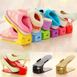 einstellbare schuhaufbewahrung Rabatt Einstellbare Schuhregale Doppelter Schuhhalter zum Aufbewahren Praktischer Schuhständer