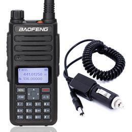 forma de cargador de radio Rebajas Baofeng DM-860 DM-1801 Walkie talkie digital nivel 12 nivel ii Ranura de tiempo dual DMR Actualización de radio digital / analógica de 2 vías + Cargador para automóvil