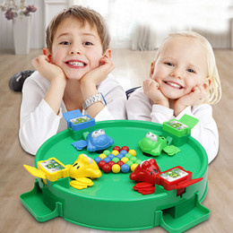 board intelligence Promo Codes - Classic Intelligence Toys Montessori Crazy Feeding Small Frog Swallowing Beads Eating Beans Casual Brain Action Board Games Parent-child