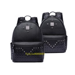 mini trunks Coupons - Fashion Rivet Designer Backpack Women Style Hot Selling Fashion Designer Backpack Letter Bags Men School Bags New Arrival