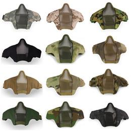 2019 máscaras de metal airsoft Famoso Airsoft Tático PDW Meia Máscara Metálica De Malha De Metal Crânio Acessórios de Caça Acessórios de Caça Wargame Exército Exército Paintball máscaras de metal airsoft barato
