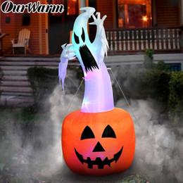 2019 juguete de caza OurWarm 180cm Decoraciones de Halloween Calabaza fantasma inflable Terror al aire libre Accesorios de miedo Juguete inflable Suministros de la casa encantada T190907 rebajas juguete de caza