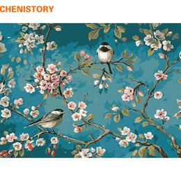 Digitale malerei für kinder online-CHENISTORY Vogel auf der Blume Baum DIY Digital Malen nach Zahlen Kits Acrylfarbe Zeichnung nach Zahlen für Kids Einzigartige Geschenk