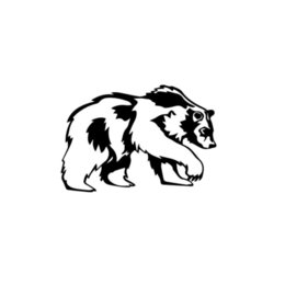 Körper grafik autos online-Tier Grizzlybär Auto Fenster Vinyl Aufkleber Aufkleber Coole Grafiken Heckscheibe Auto Aufkleber