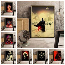 2019 soldatenmalerei Darth Vader und Soldat Retro Poster Classic Movie Painting Einzigartige Sammlung Leinwand Gemälde E250 günstig soldatenmalerei
