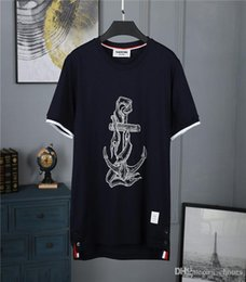 2019 camicie marrone casual 2019 Estate Marca TB T Shirt Uomo Skateboards O-Collo a maniche corte Hip Hop T-Shirt a righe da donna Casual Canotta Top Tees Marrone camicie marrone casual economici