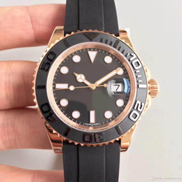 ceramic shells Coupons - Men's watch 18CT rose gold shell 116655 series 40MM ceramic ring sapphire glass automatic mechanical movement rubber strap