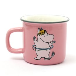 cute sweet cartoons Promo Codes - 6 Styles Moomin Caneca Little My Lovely Gift Coffee Cups Milk Water Mug Breakfast Copo Tea Cute Cartoon Sweet Love Teacup Travel Mug