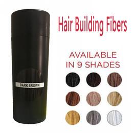 2019 fibras de cabelo da queratina Fibras de construção do cabelo 27.5g 9 cores de fibra de cabelo diluindo corretivo fibras de construção de cabelo de queratina instantâneas desconto fibras de cabelo da queratina