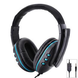 2019 headsets para xbox one Ostart estéreo de 3.5mm fones de ouvido com fio com microfone ajustável sobre fones de ouvido de jogos fones de ouvido estéreo baixo baixo para ps4 xbox one pc desconto headsets para xbox one