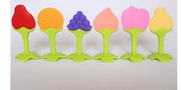 Фабрика со склада оптом трехмерные фрукты детские зубные щетки все силиконовые детские укус музыки новорожденных моляров от