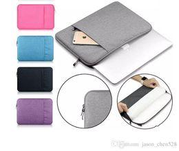 2019 lederhülle für macbook 12 zoll Nylon Laptop Schutzhülle Tasche für neues Macbook Laptop Schutzhülle Fallschutz Staub für 11-15 Zoll Notebook Tasche für iPad Pro Tragetasche Tasche