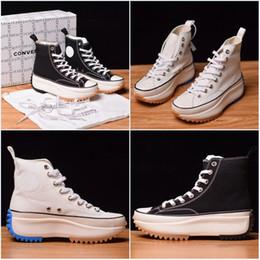 Sapatos para mulheres on-line-Conver 1970s Com Caixa Chaussures Sapatilha de Lona de Designer de Moda sapato Branco Preto Sapatilhas de Luxo Sapatos de Altura 4 cm Mulheres Sapatos Casuais