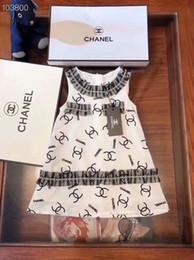 vestiti da cotone flora ragazze Sconti 2019 vestito da lettera da donna nuovo abito da cucitura di lusso in cotone vestito casual moda ragazza camicia calda vendita / manica corta