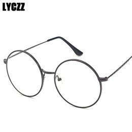 e9d012f1d6e1 LYCZZ Vintage Round Glasses Frame Transparent Optical Metal For Women Men Retro  Eyeglasses Frame Clear Lens myopia Frames