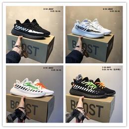 2019 nuovi rilascio delle scarpe da tennisYeezy350 V2 Argilla Hyperspace vera forma Kanye Uomini Ovest Donne dei pattini correnti bianchi Sport Sneakers A002 da borse in pelle giapponese fornitori