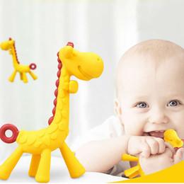 4PCS Bébé Silicone Cuillère girafe bébé dentition apaisant jouet alimentation formation BPA
