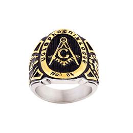 Shop Freemason Rings Black Steel UK | Freemason Rings Black