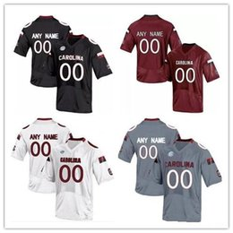 Carolina gamecocks online-Custom NCAA South Carolina Gamecocks College Football Personalized Bentley Turner Jerseys Any Name Number white black red gray S-3XL