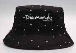 90b7f6467e0 2019 brand Diamonds bucket hats men Camping Hunting Fishing cap hip hop  bobs gorras bones Beach sports Fisherman caps mens womens Bowler cap  discount hip ...