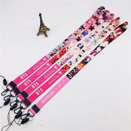 abzeichenhalter lanyard Rabatt BTS Karte der Seele: Persona Cute Laser Phone Umhängeband Blackpink Kill This Love Keychain Schlüsselanhänger Fashion Lanyard Card Badge Holder