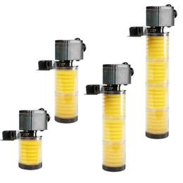 tanque de filtración Rebajas SOBO 800L / H 1200L / H Acuario multifunción Filtro sumergible 1 2 capas Filtro interno de pecera con filtro Esponja
