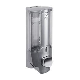 Fechaduras de banheiro on-line-350 ml Dispensador de Sabão Líquido Parede Sanitizer Dispensadores de Shampoo Mão Para Pia Do Banheiro Do Banheiro Do Banheiro Chuveiro de Banho com um Bloqueio ZJ0758