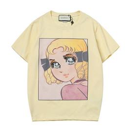 343f52ddda Nueva camiseta de diseñador bordada en el frente de los hombres nuevas  lentejuelas bordadas ojos grandes flor hada niña de dibujos animados patrón  de marca ...
