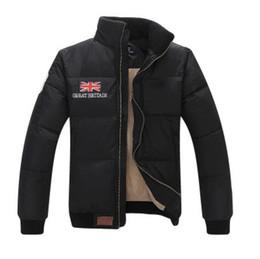 Classico marchio Stand Collar Warm UK Flag Famoso Pony Uomo Piumino uomo Appliques Cerniera Capispalla sport cotone Cavallo Parka cappotti da