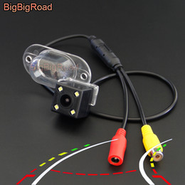 visión de la pista Rebajas BigBigRoad coche dinámico Trayectoria inteligente Pistas cámara de visión trasera de reserva para el NV200 Vanette X-Trail Classic T30 visión nocturna