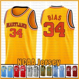 scuola nera degli alti talloni Sconti 34 Len Bias Università del Maryland NCAA Basketball Maglia universitario Russell Westbrook 0 32 Jimmer Fredette 31 31 Reggie Miller 31 maglie