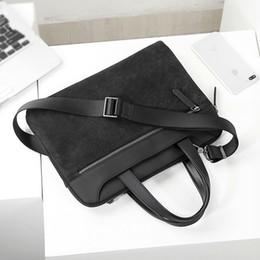 Sacoche macbook pro 13 en Ligne-2019 Top Grade Leather Laptop Briefcase Sacs à main de luxe pour hommes pour Macbook Pro 13 pouces Hommes Messenger Sac hommes de vache sac à main