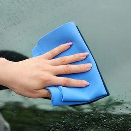 synthetisches waschleder Rabatt 1 stück Bunte Magie Auto Waschen Handtuch Tuch Absorber Synthetische Fensterleder