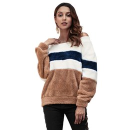 cashmere hoodies for women Promo Codes - Woman Autumn And Winter New  Product Stripe Cashmere Sleeve cae98e48f