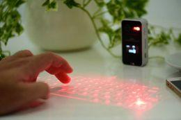 Laser virtual on-line-Sem fio Bluetooth Teclado Virtual de Projeção A Laser com Função Mouse Projeção de Voz Prompt Portátil