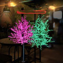 2019 decorações para festa de jardim Árvore de 1,5 m 1,8 m 2m brilhante LED Cherry Blossom Natal Iluminação impermeável Landscape Garden Decoration Lamp for Wedding Party deco desconto decorações para festa de jardim