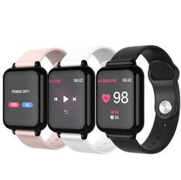 2019 relógios inteligentes i5 B57 melhor rastreador de fitness smartwatch para iphone andriod mulheres homens impermeável relógio Bluetooth Sports com Heart Rate Monitor de Pressão Arterial