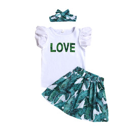 top boat brands Coupons - Baby girl white top LOVE dress with headband short sleeve summer cute baby girls clothes toddler dresses outfit 2-8Y