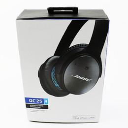 Alta calidad QC25 auriculares con cable de cancelación de ruido auriculares auriculares con caja al por menor envío gratis QC 25 desde fabricantes