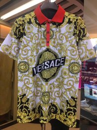 Argentina 2019 nuevos hombres de la marca de camiseta polos de moda clásico de manga corta camisa de polo de la serpiente de abeja bordado floral para hombre polos camisa M-3XL cheap xxl mens shirt classic Suministro