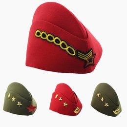 boina roja militar Rebajas Ruso azul marino gorra estrella de algodón marinero gorra fiesta baile escenario insignia capitán militar sombrero boina roja ejército verde XL