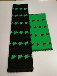 2019 vestido de encaje de algodón para damas. color verde único único grande pesado Lurex bordado de encaje de algodón cordón suizo africano con piedras para dama vestido muy bien vestido de encaje de algodón para damas. baratos