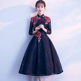 49543cb19 2019 banquete de vestir para niñas Vestido Cheongsam 2019 nuevas chicas en  el largo banquete de