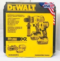 Dewalt 20V DCK299P2 Combo Kit Brushless 2-Ferramenta 5.0Ah DCD996 DCF887 NOVO de