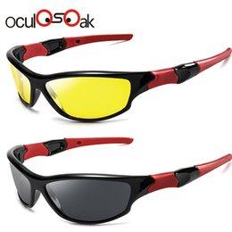 Hd солнцезащитные очки ночного видения онлайн-Oculosoak очки ночного видения мужчины очки Очки UV400 солнцезащитные очки желтый объектив HD поляризованные ночь вождения Гафели 1036