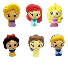 2019 giocattoli in silicone per bambini Squishy Toy Princess Modello lento aumento Jumbo stress alleviare bambole Multicolor bambini spremere giocattoli per bambini novità articoli CCA11735 50 pz giocattoli in silicone per bambini economici