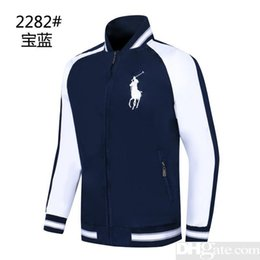 bat clothing Coupons - mens 2019 clothes brand jacket War horse print stitching jacket casual loose short coat Windbreak Clothing high quatilly men jacket ABF-1