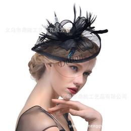 Ucuz Sıcak Satış Festivali Moda Düğün Kadınlar Fascinator Penny Mesh Şapka Kurdela Ve Tüyler Şapka Düğün Aksesuarları nereden