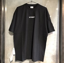 Oversized homens camisa branca t on-line-Homens camisetas Vetements t shirt Tag Homens Mulheres Red Black White Big Vetements Tees Oversized Vetements t-shirt