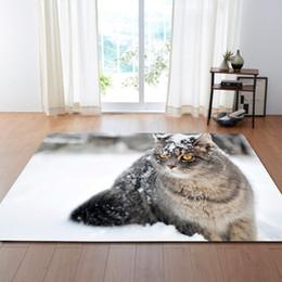 criança verde pet Desconto Têxteis de casa 3D Bonito Pet Cat Mats Tapetes de Sala de estar Tapete de Área de Tabela Crianças Decoração Do Quarto Tapetes de Flanela Tapetes